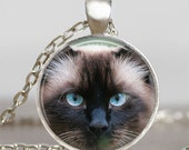 Blact Cat pendant , cat pendant necklace ,  cat jewelry, art pendant , gift for friend family halloween jewelry