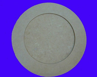 Round Picture or Mirror Frame Unfinished Mdf Wood