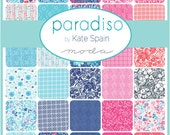 PARADISO - Moda Fabric Charm Pack - Five Inch Quilt Squares Quilting Material Blocks