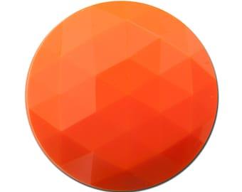 Vintage Orange Faceted Acrylic Cabochons 30mm (2) cab825E