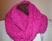 Hand-Crocheted Moebius Ring Cowl/Scarf in SilkWool