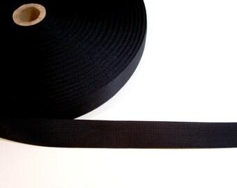 Black Ribbon, Black Nylon Tape 1 inch wide x 4 yards Nylon Ribbon, Black Belting