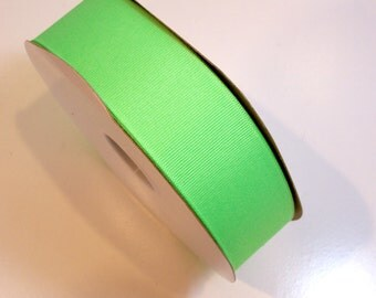 Neon Green Ribbon, Offray Lime Neon Green Grosgrain Ribbon 1 1/2 inches wide x 8 yards