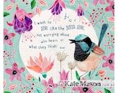 Fairy Wren Song Bird ART PRINT