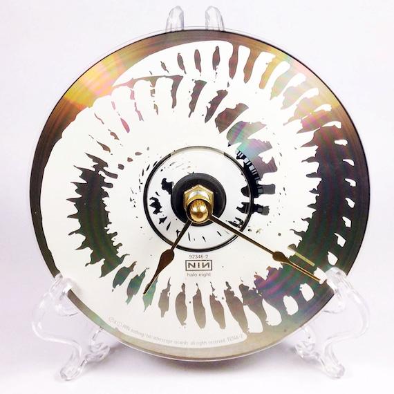 Cd Clock Desk Clock Wall Clock Nine Inch Nails Downward