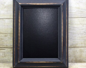 Chalkboard Frame Blue 5x7 Painted Frame Shabby and Chic  Rustic Wedding or Photo Prop
