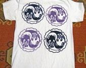 t shirt kawaii panda yin yang noodles ramen women teen bear animal