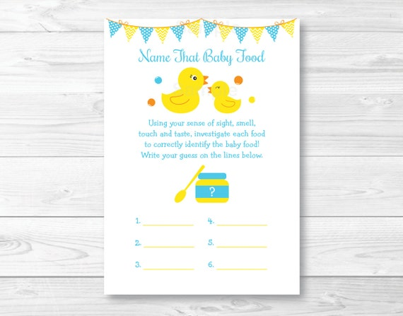 These Adorable Name That Baby Food Cards Are A Great Way To Kick Off The  Fun At Your Baby Shower U0026 Guaranteed To Be A Huge Hit!