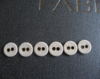 Tiny Victorian Linen Buttons