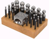 Doming Punch And Dapping Block Set - 24 Piece