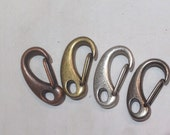 Qty 2 Large Lobster Clasp  Antique Copper, Brass or Silver Plate 30mm -  Free Shipping USA