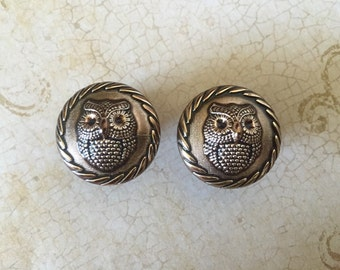 "2g - 7/8"" (6mm-22mm) / Bronze Owl / Plugs Gauges Earrings / Stretched Gauged Ears"