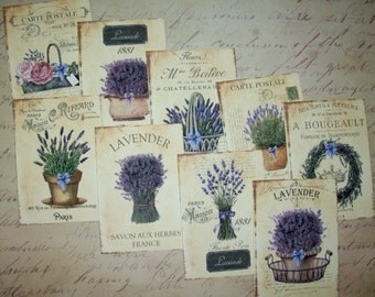 LAVENDER - Carte Postale - French - Paris - Your Choice of Lovely note cards or Gift Tags - LAV 865