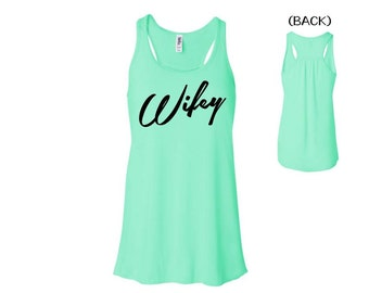 RETRO WIFEY TANK. Bride Tank. Honeymoon Tank. Newlywed, Mrs, Bride, Wedding, Just Married. Mint green. rw