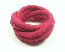Pink Felted Bracelet / Pink Felted Bangles / Modern Bracelet / Fiber Art / Yoga / from my Twisted Felt Collection
