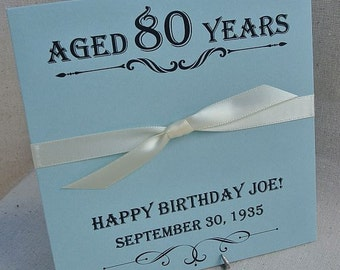 80th Birthday Favor - Lottery Ticket Holder - 80th Birthday - 80th Party - Milestone Favors - 70th Birthday - 90th Birthday