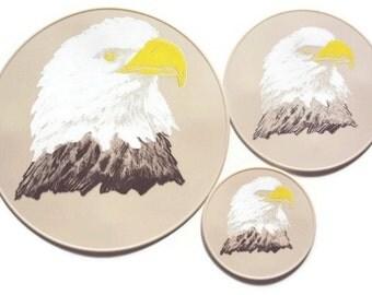 Beige Eagle Table Trivet Drink Coasters Table Decor Kitchen Hot Pad Spoon Rest