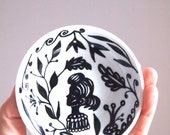 Hand painted ceramic mini dish