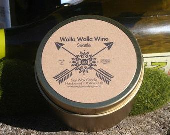Seattle: Walla Walla Wino- 6oz Soy Wax Candles