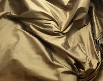 MOCHA BROWN Silk DUPIONI Fabric - fat 1/4