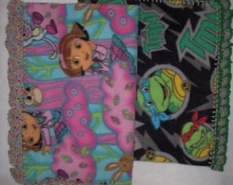 Crochet Edge Nap Blankets