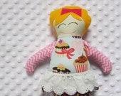 Simone Small Handmade Fabric Baby Doll