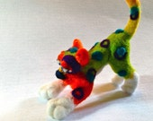 Wool Felted dog, puppy,alma lee,soft sculpture