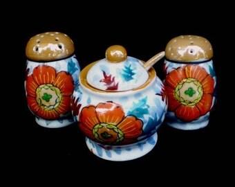 Vintage 30s Condiment Set Hotta Yu Shoten Japan