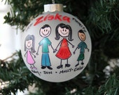 Personalized Family Ornament \ Handpainted Christmas Ornament