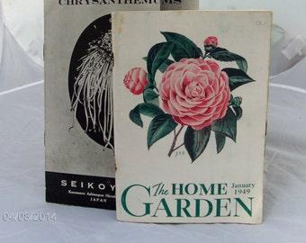 pair of Vintage Gardening/ flower leaflets