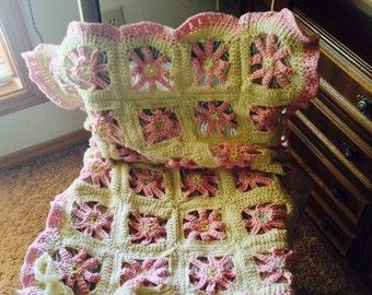 Crocheted Baby Blanket Wrap Throw