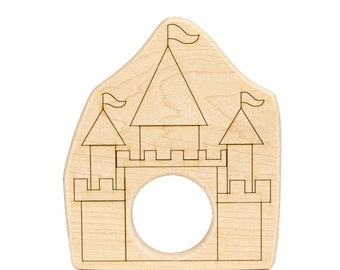 Castle Wood Toy Teether