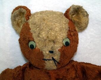 Vintage Primitive Brown Teddy Bear