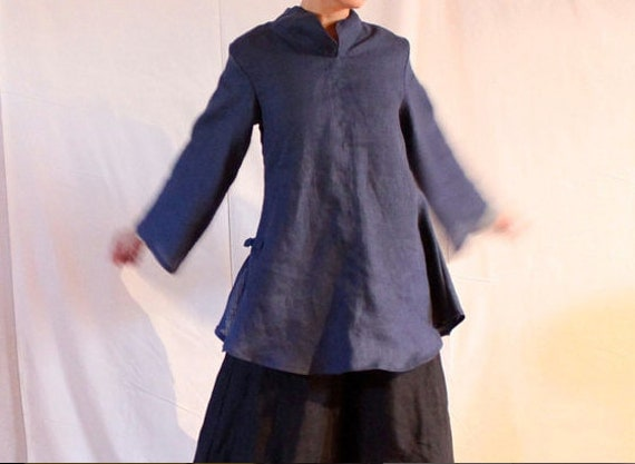 eco  linen asian blouse size XS to 5XL and up
