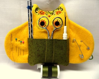 Sewing Kit Owl~Golden Sunflowers