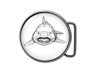 Belt buckle Shark Antiqued Silver Gifts for him Gifts for her