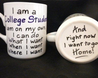 Clever Graduation Mug for the student leaving home