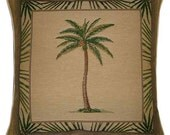 Palm Tree Design No 3 Tapestry Cushion Cover Sham