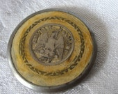 Large VINTAGE Mexican Coin in Metal BUTTON