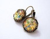 Red Opal    Earrings Opal Earrings Opal Jewelry.