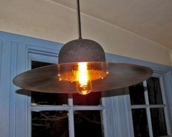 Hanging lamp made from cymbal