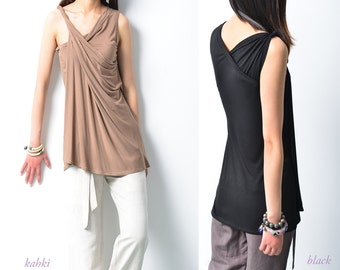 My Zen 5 - Modal cotton asymmetrical draping slip (Y1508)