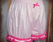 Pink cosplay micro mini bloomers