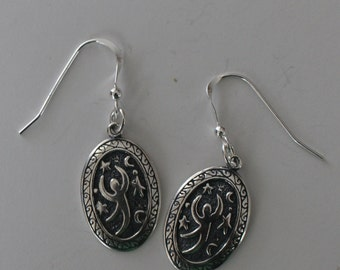 Sterling Silver MIDNIGHT DANCER Earrings -