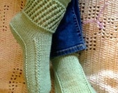 Ankle Warmer Boots Pattern - Easy to Knit Slippers for adults - 3 sizes, 3 styles made with Worsted