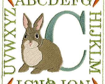 BUNNY ALPHABET  Machine embroidery Designs