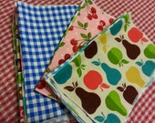 Everyday Cloth Napkins Set of 12  - Family Friendly Prints - SALE!