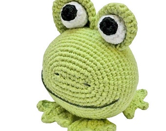 amigurumi animal glotzi PDF crochet pattern tutorial by Katja Heinlein stuff toy kids toad frog green digital file ebook stuffie plushie kid