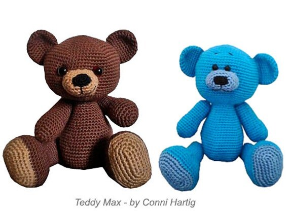 amigurumi max teddy bear crochet PDF pattern tutorial crochet