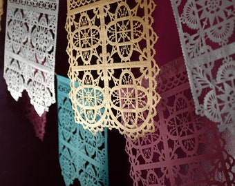 TALAVERA - fine papel picado banner - custom colors